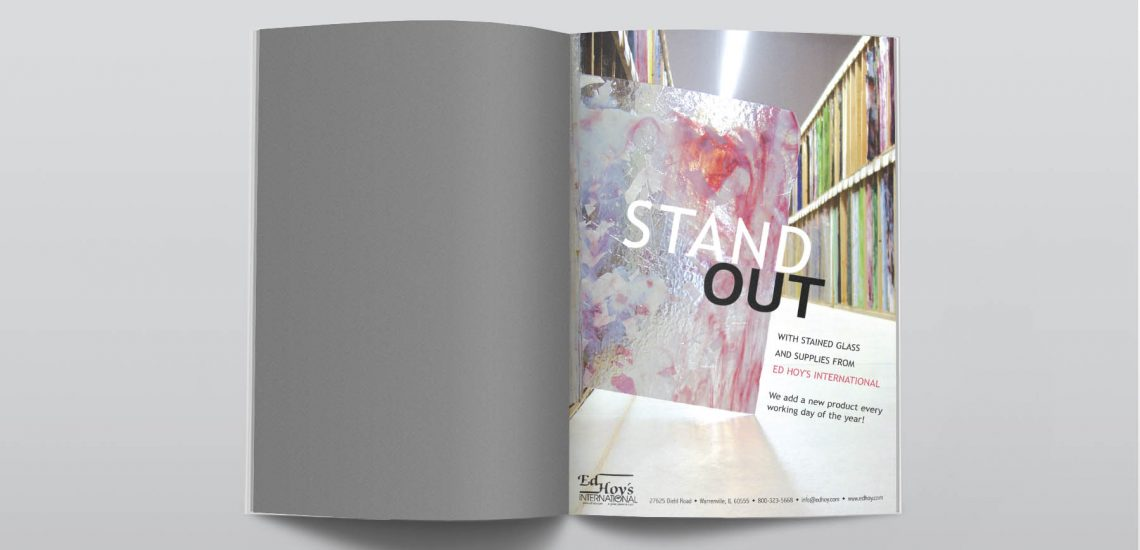 Stand Out Stained Glass Ad