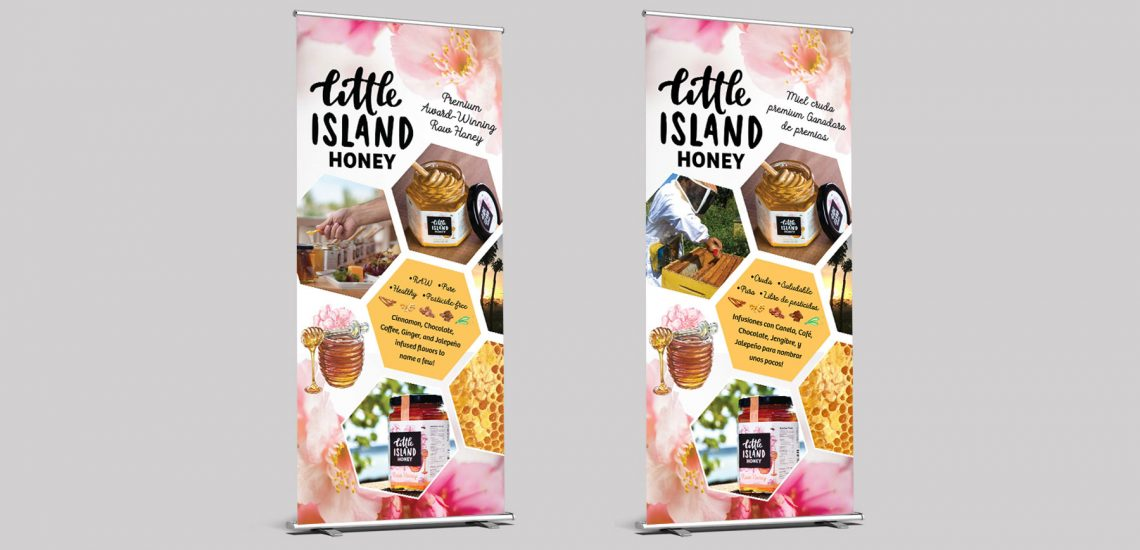 Little Island Honey Banner