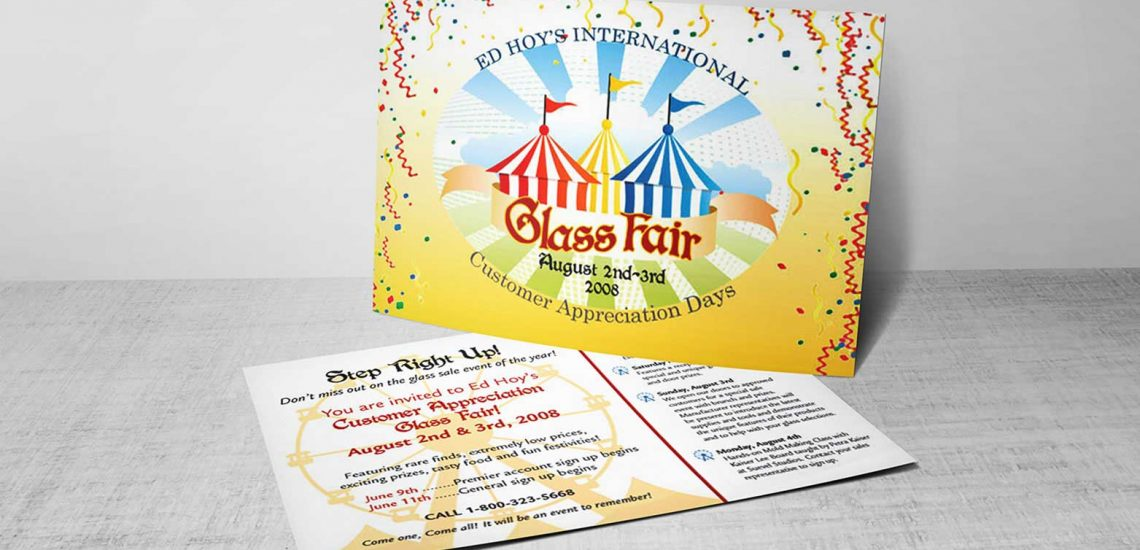 postcard design for a sale event