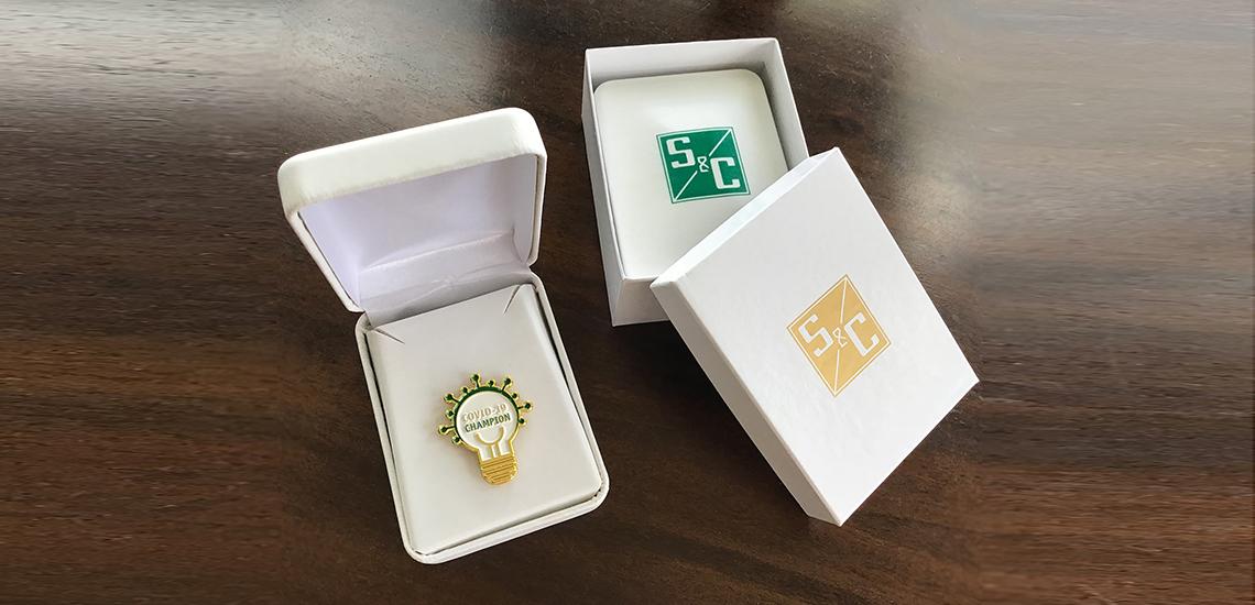 COVID19 Champion Pin