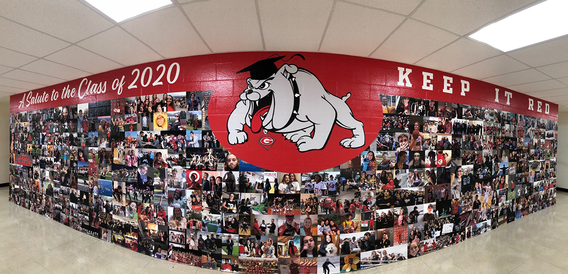 School Photo Wall Signage
